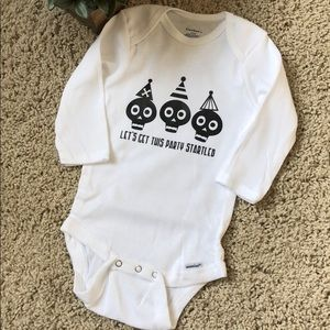 """Gerber One Pieces - 🆕 Onesie - """"Let's get this party startled!"""""""